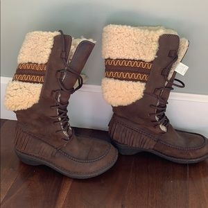 Ugg leather and shearling boots